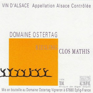 Domaine Andre Ostertag Riesling Clos Mathis Alsace France, 2017, 750