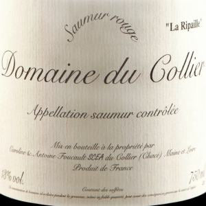 Domaine du Collier Rouge Ripaille Saumur France, 2015, 750