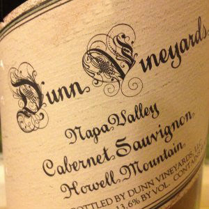 Dunn Cabernet Sauvignon Howell Mountain, 2012, 750