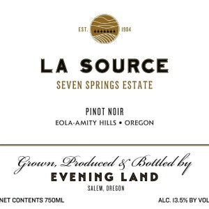 Evening Land La Source Seven Springs Estate Pinot Noir Eola Amity Hills Oregon, 2016, 750