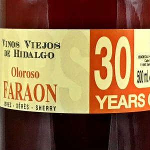 Hidalgo Faraon Oloroso 30 year Sherry, NV, 500ml