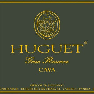 Huguet Can Feixes Cava Gran Reserva Brut Nature Catalonia Spain, 2008, 750