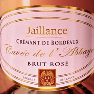 Jaillance Cremant de Bordeaux Cuvee de l' Abbaye Brut Rose France, NV, 750