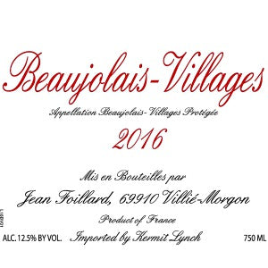 Jean Foillard Beaujolais-Village France, 2016, 750