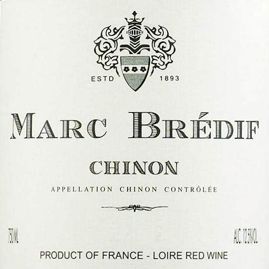 Marc Bredif Chinon Loire France, 2017, 750