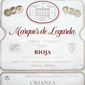 Marques de Legarda Crianza Rioja Spain, 2015, 750