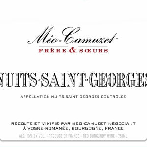 Meo-Camuzet Nuits-Saint-George Burgundy France, 2017, 750