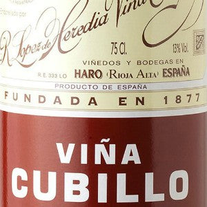 R. Lopez de Heredia Vina Cubillo Rioja Spain, 2010, 750