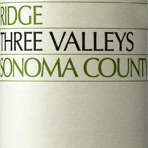 Ridge Three Valleys Sonoma California, 2017, 750