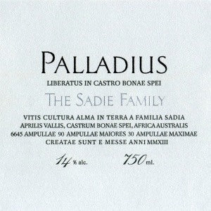 Sadie Family Palladius White Blend South Africa, 2016, 750