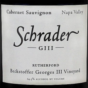 Schrader GIII Beckstoffer Georges III Vineyard Napa Valley, 2006, 750