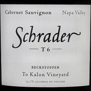Schrader T6 Beckstoffer To Kalon Vineyard Cabernet Sauvignon Napa Valley, 2006, 750