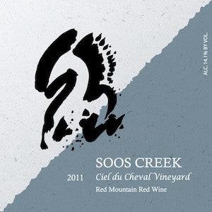 Soos Creek Ciel du Chaeval Vineyard Red Mountain Washington Red Wine, 2011, 750