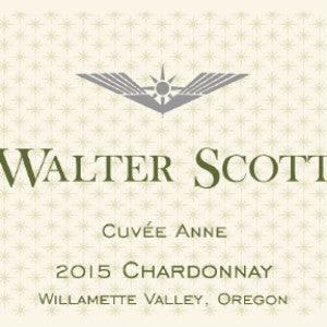 Walter Scott Cuvee Anne Chardonnay Willamette Valley Oregon, 2015, 750