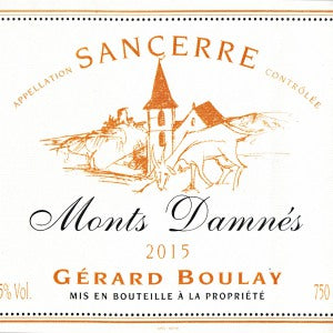 Gerard Boulay Monts Dammes Sancerre France, 2016, 750
