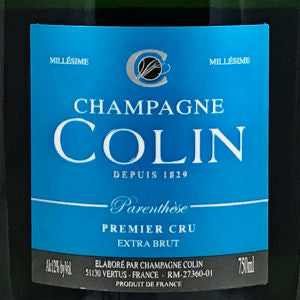 Champagne Colin Cuvee Parenthese Premier Cru Extra Brut Champagne France, 2009, 750