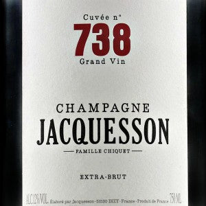 Jacquesson Cuvee 738 Extra Brut Champagne France, NV, 750