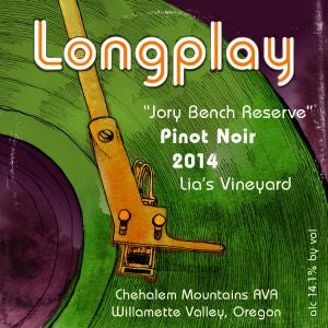 Longplay Pinot Noir Jory Bench Reserve Willamette Valley Oregon, 2014, 750