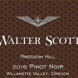 Walter Scott Freedom Hill Pinot Noir Willamette Valley Oregon, 2016, 750