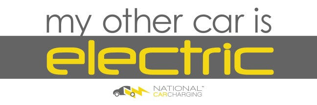 """My Other Car Is Electric"" Bumper Sticker"