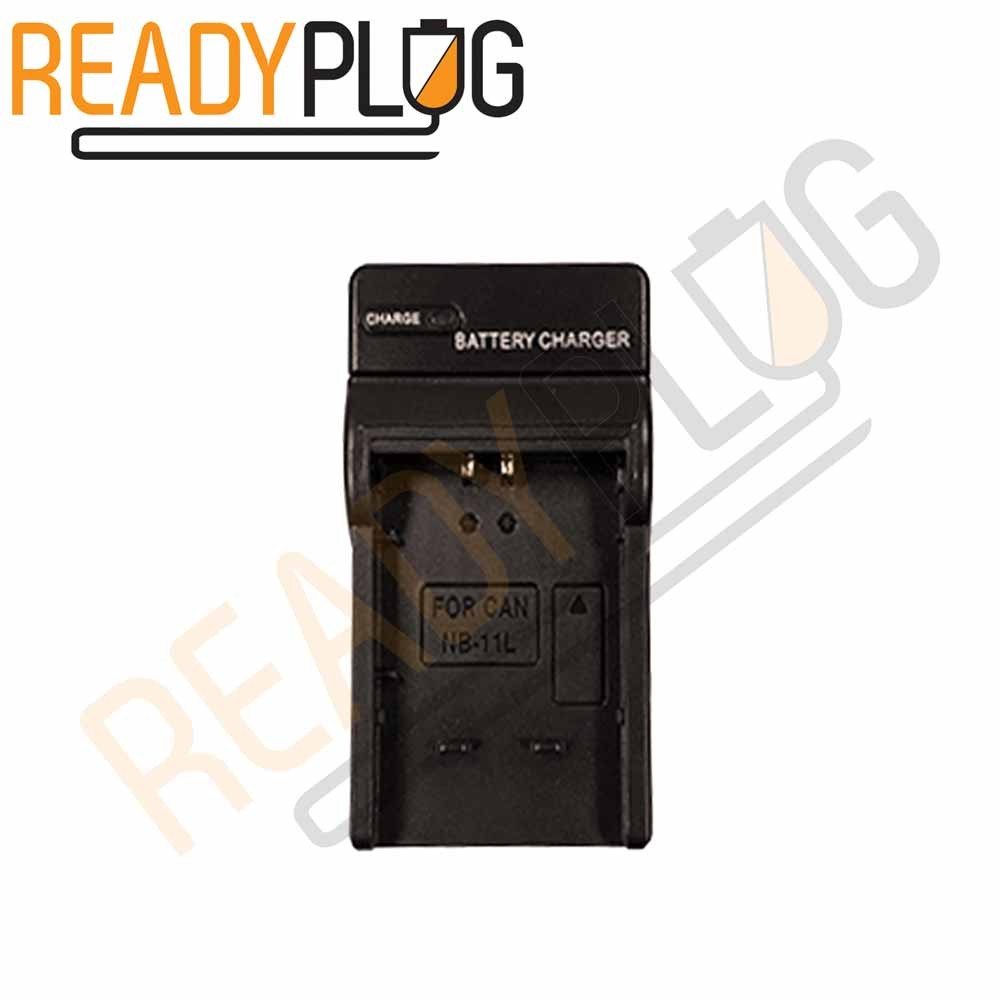 ReadyPlug Battery Charger for Canon PowerShot ELPH 130 IS Charger AC/DC Wall Charging Box (Black)-Camera Charger-ReadyPlug