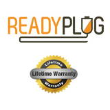 ReadyPlug Lifetime Warranty for 6 inch ReadyPlug USB Cable for: HTC Desire 7060 Data/Sync/Computer M to Male USB 2.0 Cord (Black, 6 Inches)-USB Cable