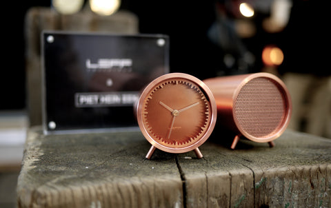 copper tube clock and speaker
