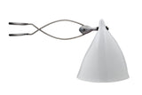 GLAZED WHITE CLIP-ON CORNET LAMP