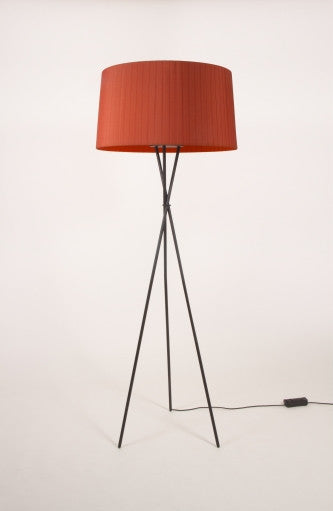 RED AMBER TRIPODE FLOOR LAMP