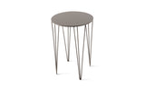 ATIPICO BEIGE GRAY CHELE ROUND METAL SIDE TABLE