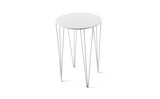 ATIPICO SIGNAL WHITE CHELE ROUND METAL SIDE TABLE