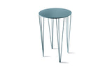 ATIPICO TURQUOISE BLUE TALL ROUND METAL SIDE TABLE