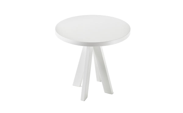 A.NGELO SIGNAL WHITE ROUND SIDE TABLE