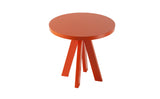 A.NGELO TRAFFIC ORANGE ROUND SIDE TABLE