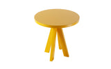 A.NGELO SIGNAL YELLOW ROUND SIDE TABLE