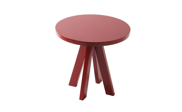 A.NGELO RUBY RED ROUND SIDE TABLE