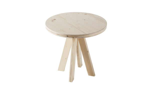 A.NGELO FIR WOOD ROUND SIDE TABLE