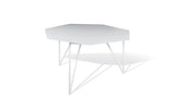 ATIPICO TERRA METAL COFFEE TABLE IN SIGNAL WHITE