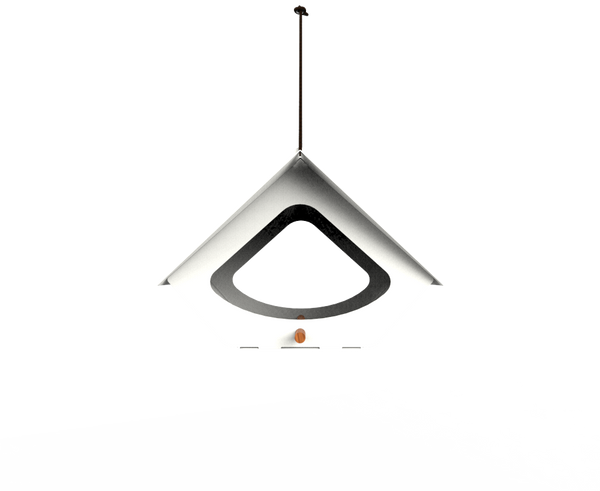 BEEKMAN MODERN WHITE METAL BIRD FEEDER