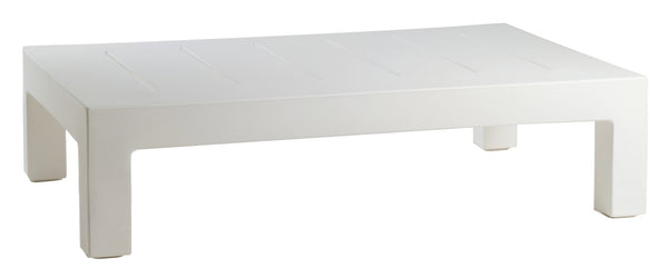 WHITE JUT COFFEE TABLE