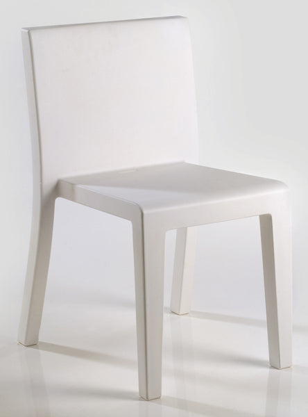 WHITE JUT DINING CHAIR