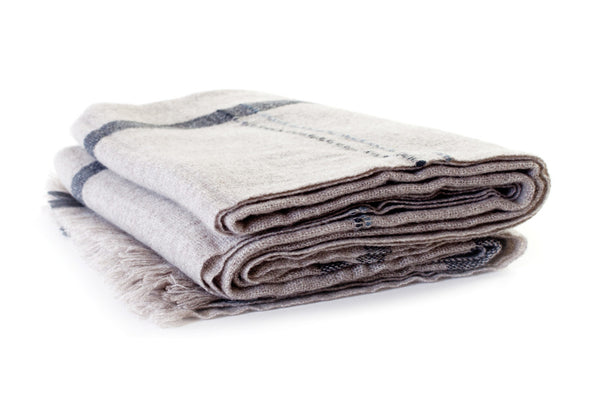 CALYPSO BEIGE CASHMERE THROW