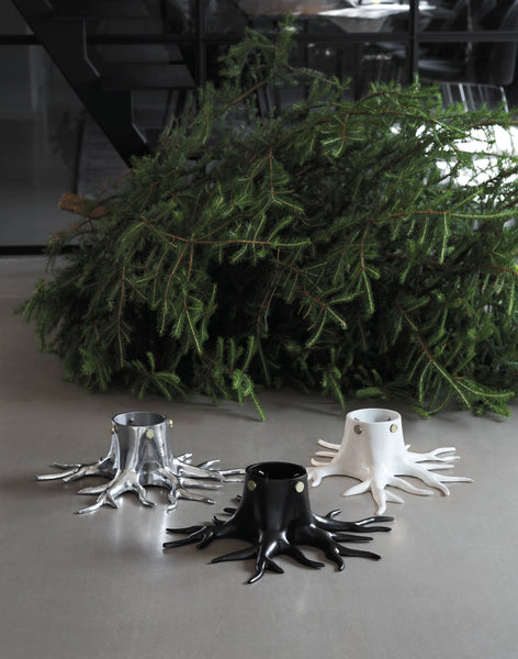 THE ROOT CHRISTMAS TREE HOLDER -  WHITE