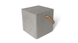 EDGE MODERN CONCRETE STOOL WITH ROPE HANDLE & WHEELS