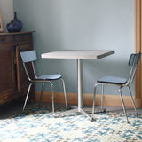 SQUARE MODERN CONCRETE & METAL BISTRO DINING TABLE