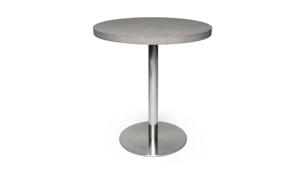 ROUND MODERN CONCRETE & METAL BISTRO DINING TABLE