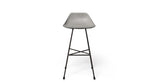 HAUTEVILLE MODERN CONCRETE & METAL COUNTER STOOL