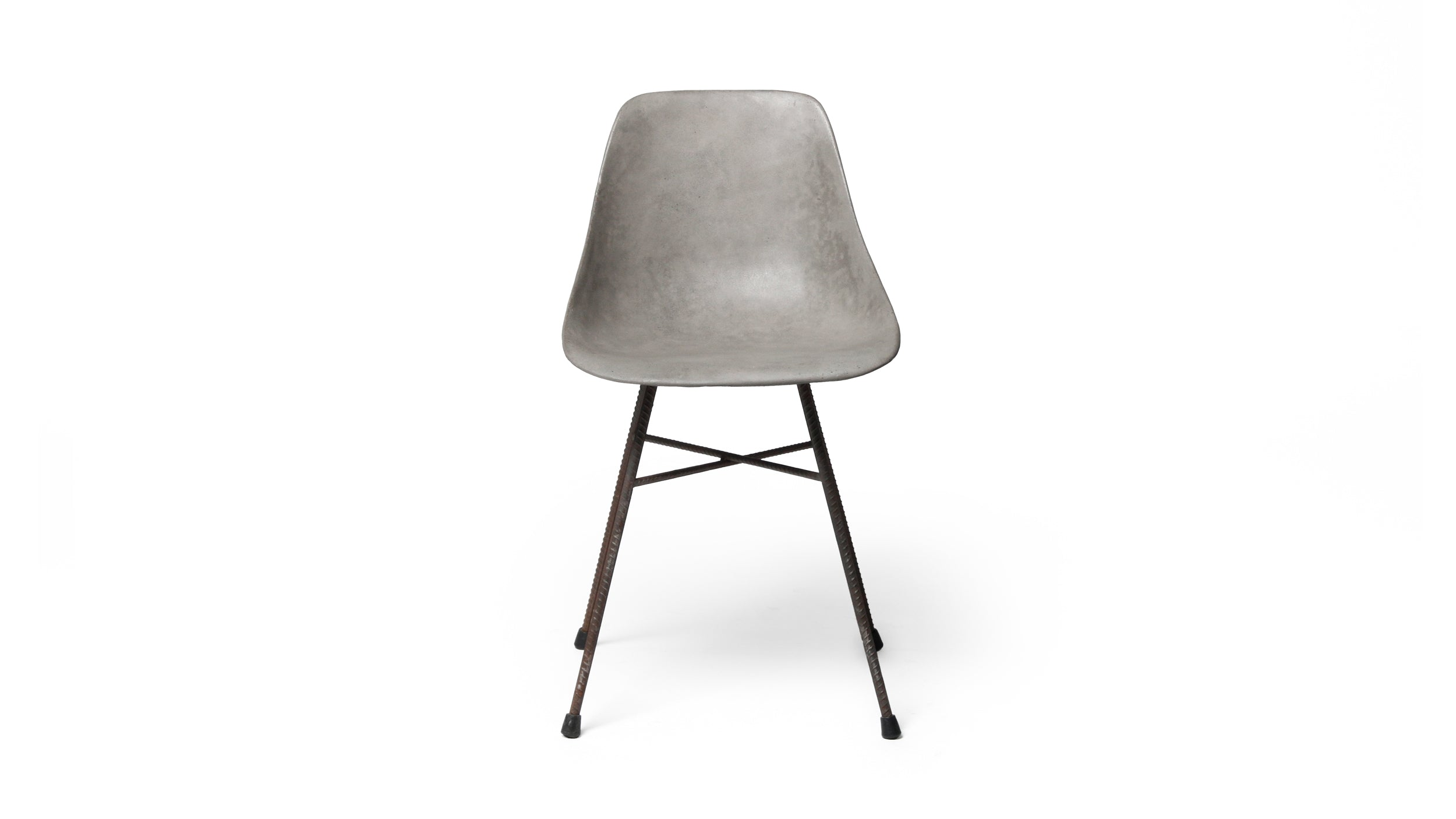 HAUTEVILLE MODERN CONCRETE & METAL DINING CHAIR