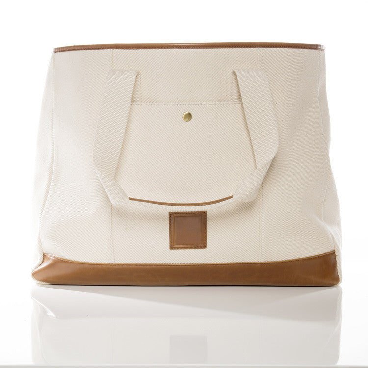 Brouk & Co. natural canvas and leather everyday tote
