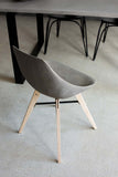 HAUTEVILLE MODERN CONCRETE & PLYWOOD DINING CHAIR